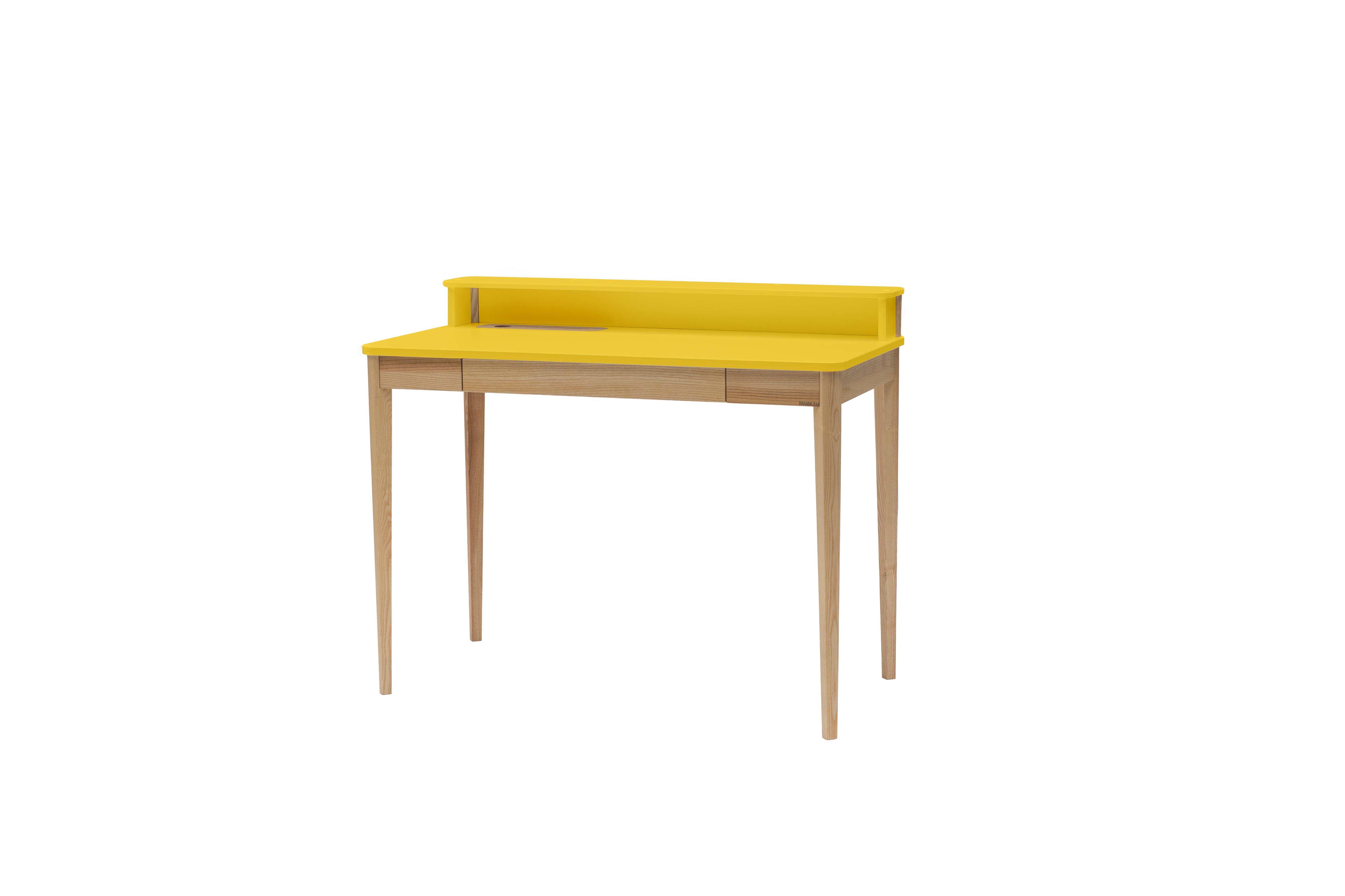 Masa de birou Ashme Yellow, L119xl56xh75 cm
