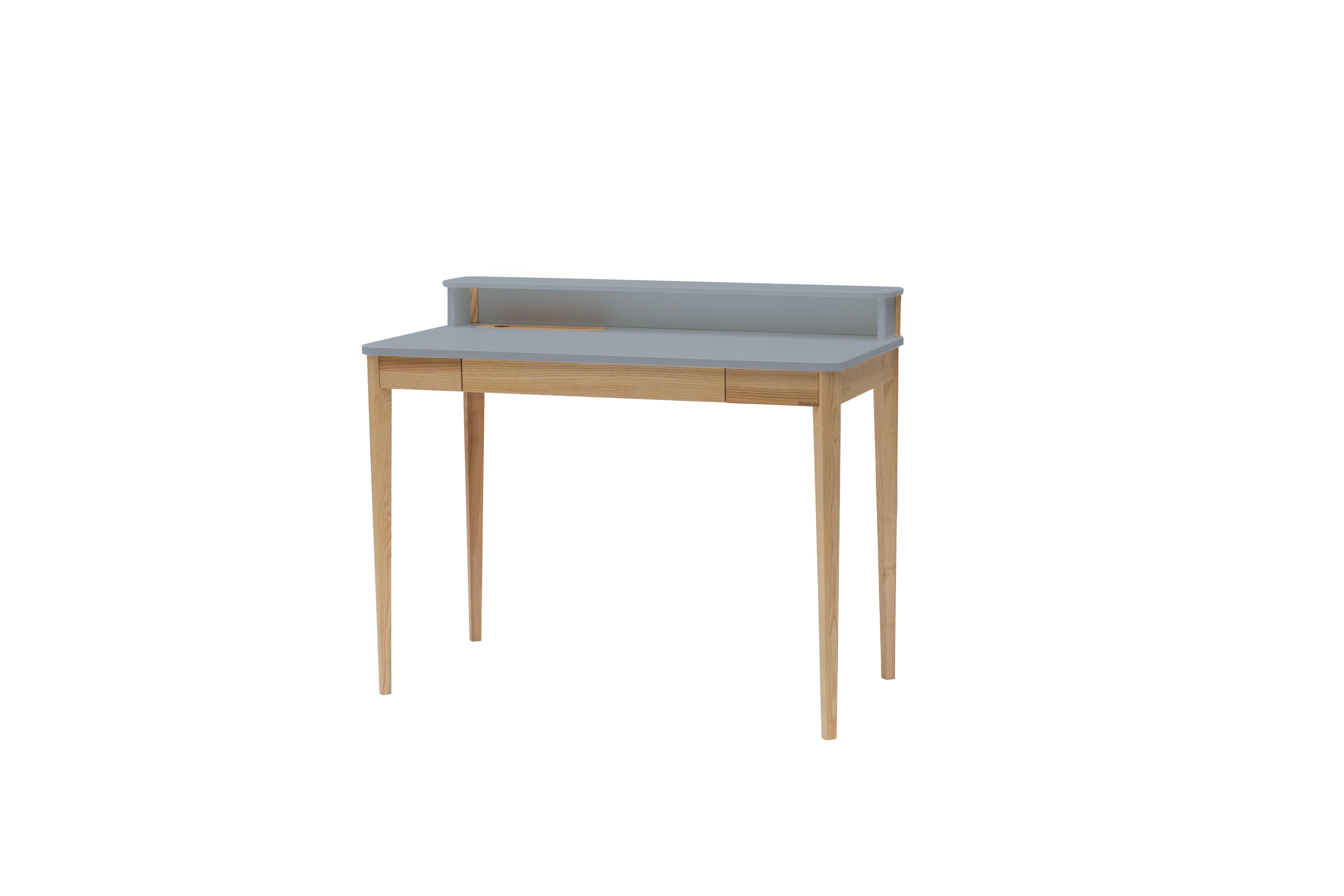 Masa de birou Ashme Dark Grey, L119xl56xh75 cm