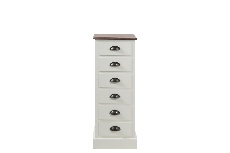 Cabinet din furnir Aster 6 White/Brown