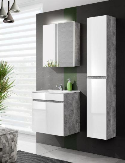 Set Mobilier pentru baie cu 2 usi, 4 piese, Atelier XL