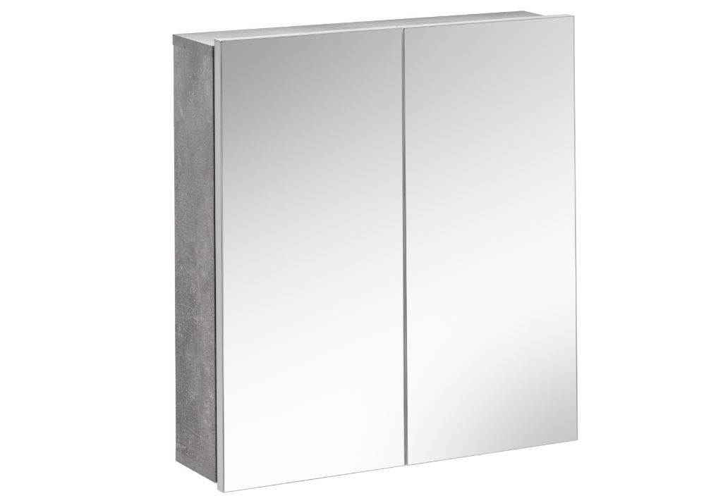 Dulap baie suspendat cu 2 usi si oglinda Atelier l60xA15xH65 cm
