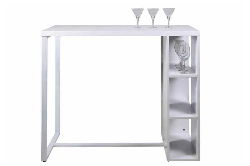 Masa de bar Avocet White, L120xl60xh105 cm