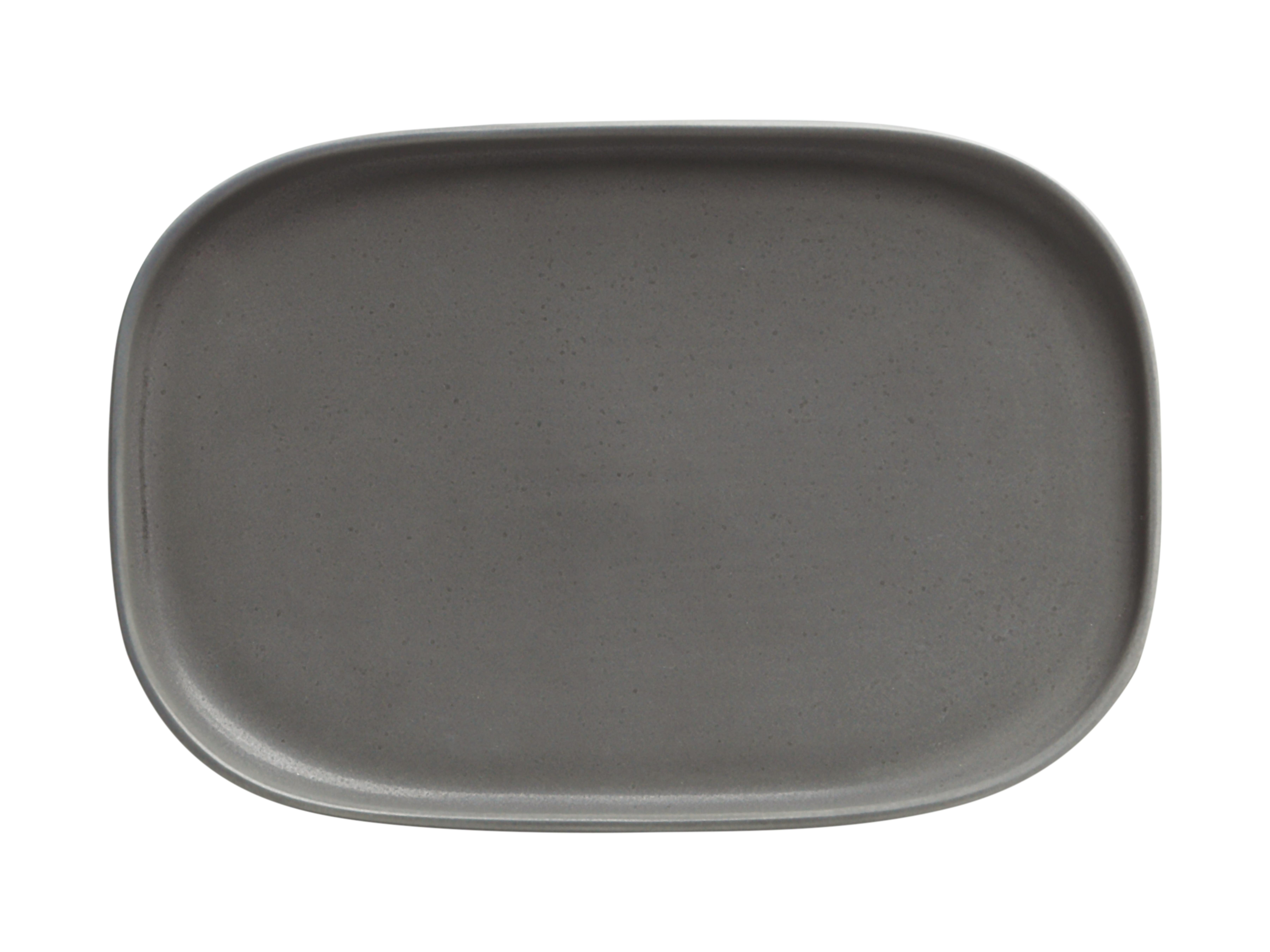 Set 4 Platouri  Elemetal  Charcoal  20 X 14 Cm