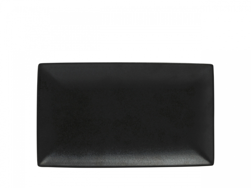 Set 4 farfurii dreptunghiulare Black, Caviar, 27,5 x 16 cm