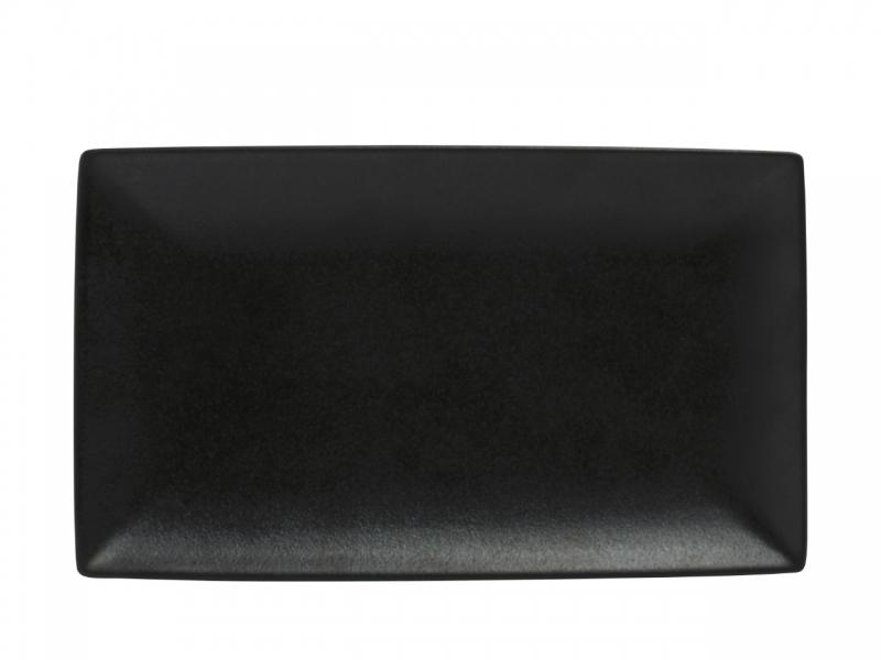 Set 4 farfurii dreptunghiulare Black, Caviar, 34.5 x 19.5 cm
