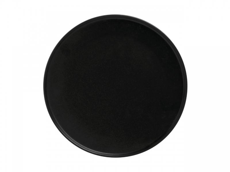 Set 4 farfurii aperitiv Black, Caviar, 24.5 cm