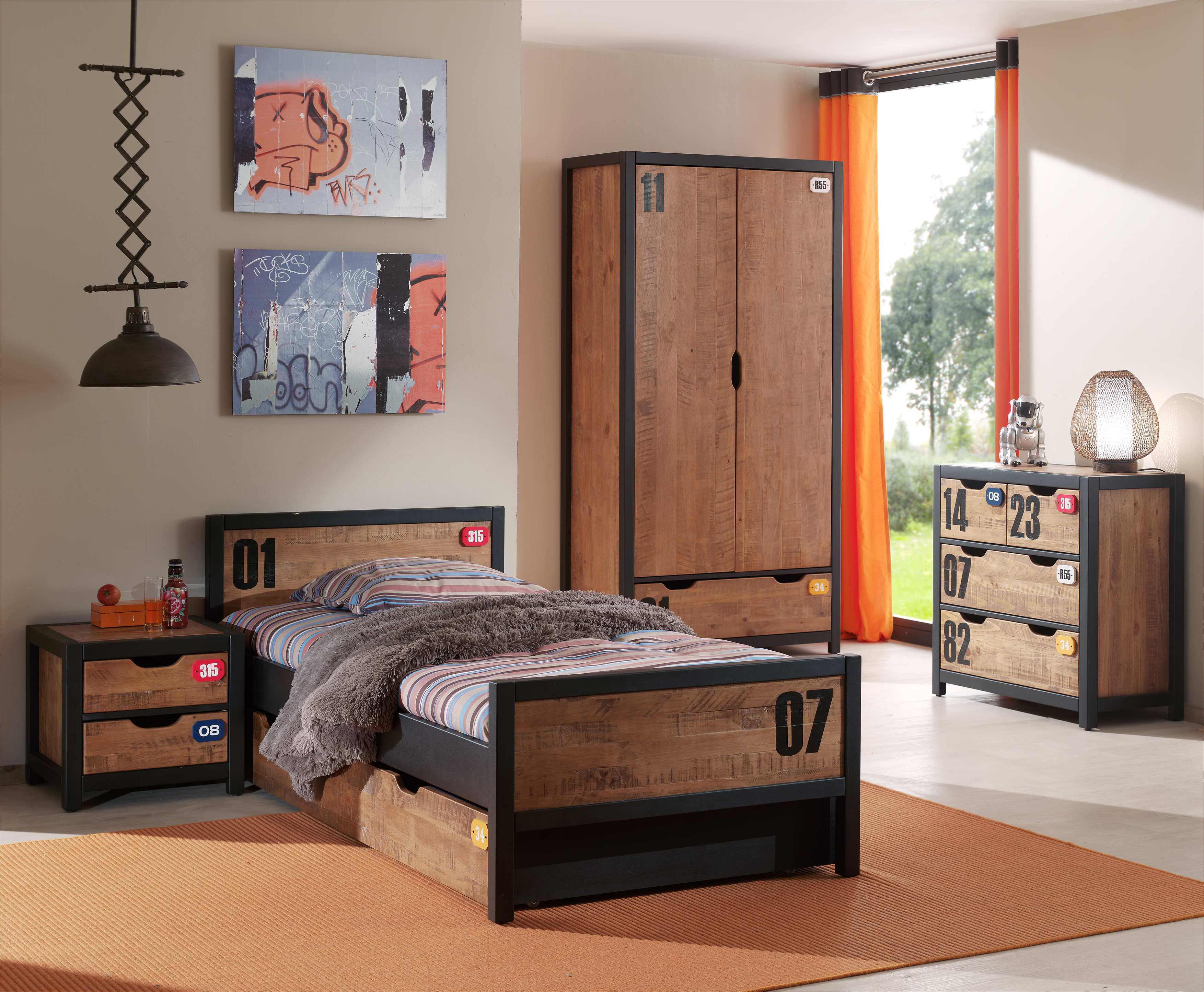 Foto Set Mobila Dormitor Lemn Pin Plus
