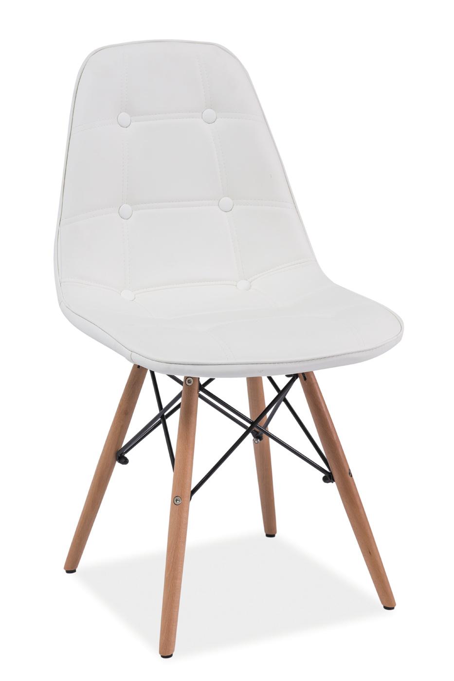 Scaun din lemn tapitat Axel White