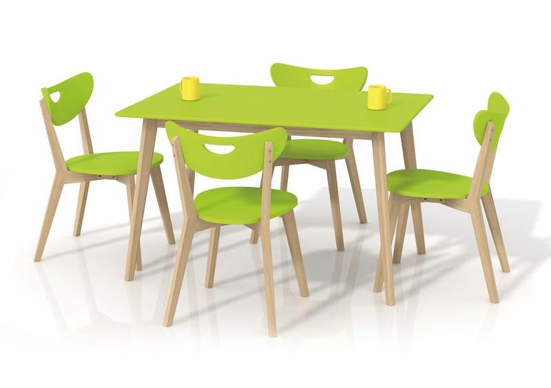 Masa din lemn si MDF Lorrita Lime, L120xl80xh73 cm
