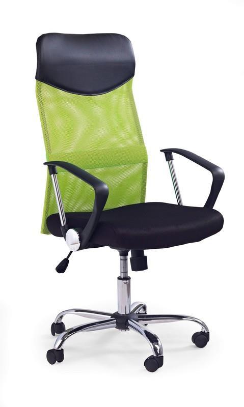 Scaun de birou ergonomic tapitat cu stofa Vire Green / Black, l61xA63xH110-120 cm