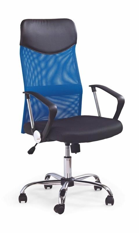 Scaun de birou ergonomic tapitat cu stofa Vire Blue / Black, l61xA63xH110-120 cm