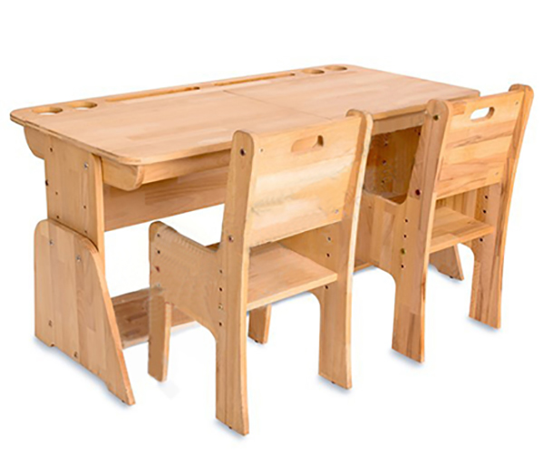 Masa de birou din lemn de fag, Ecodesk, L120xl55h46 cm