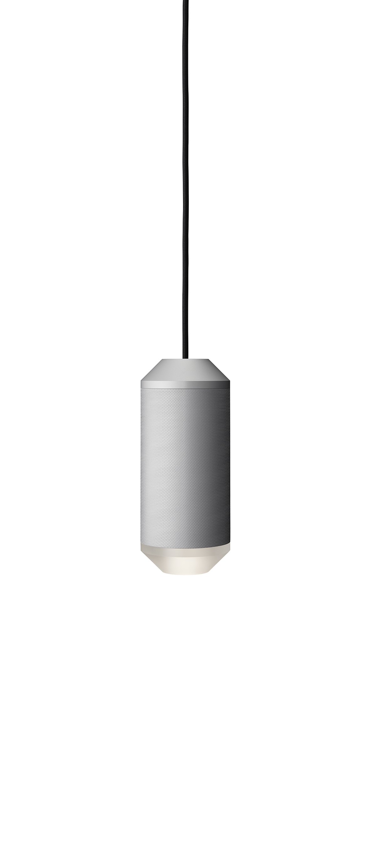 Lustra Backbeat / Acrylic bottom, Ø10 cm, H23,5 cm, Silver