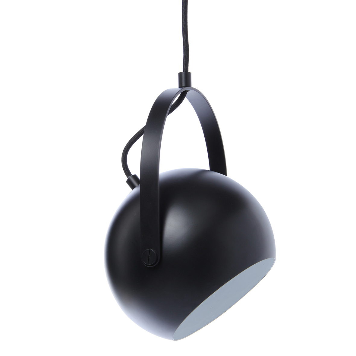 Lustra Ball W Handle Black Matt
