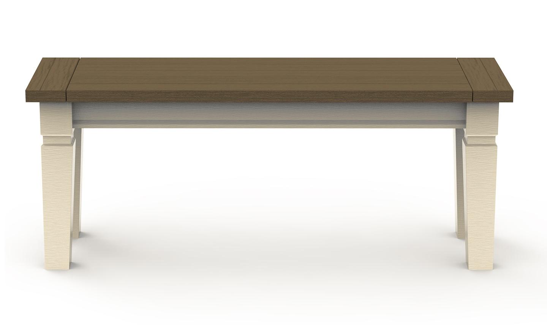 Banca Lemn Pin Antic Alb - 9810