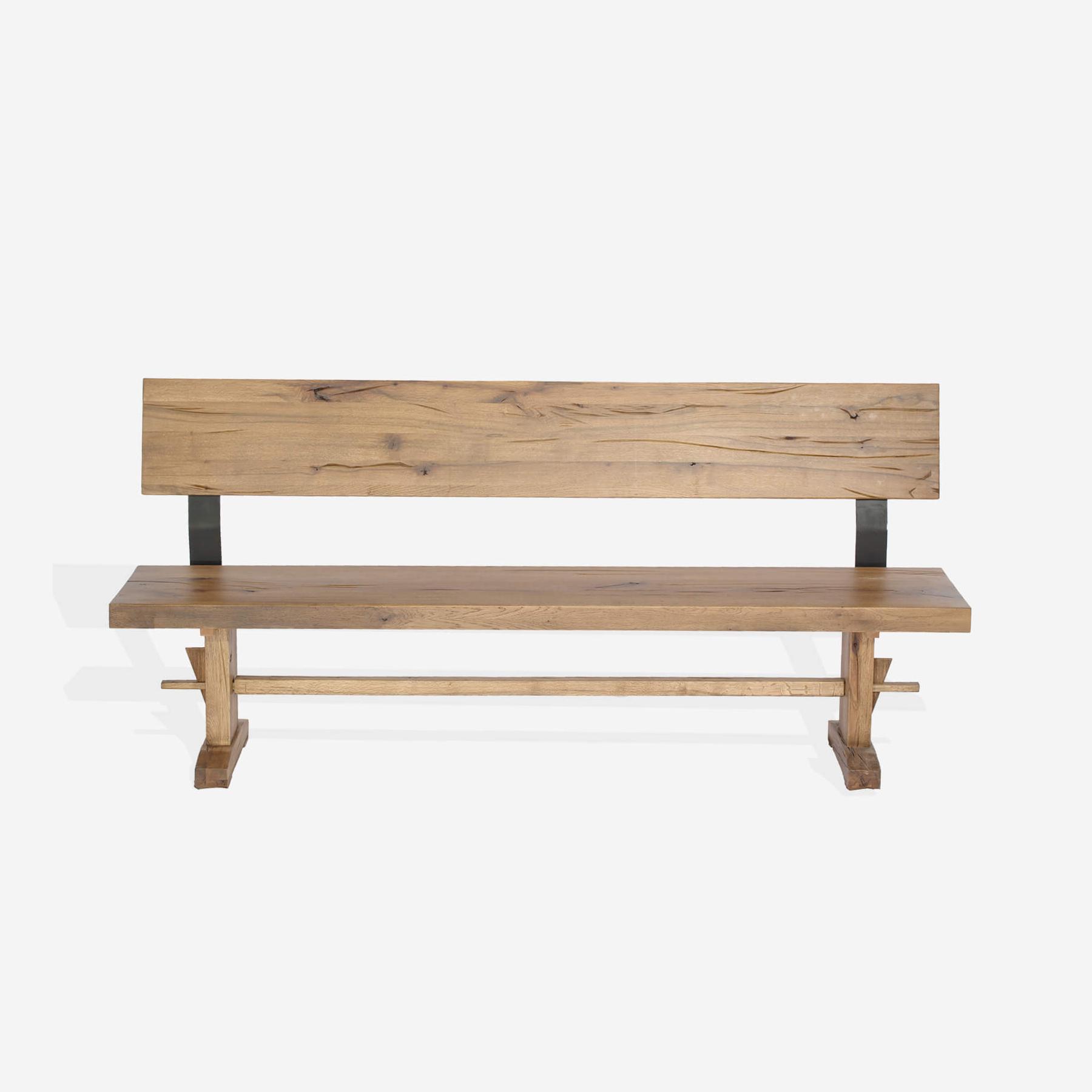 Banca din lemn de stejar salbatic Pfeiffer l180xA40xH75 cm