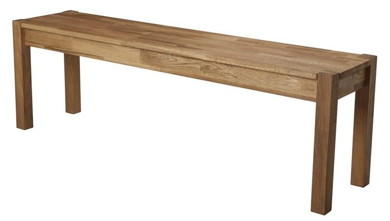 Banca din lemn de stejar Turbo l140xA35xH45 cm