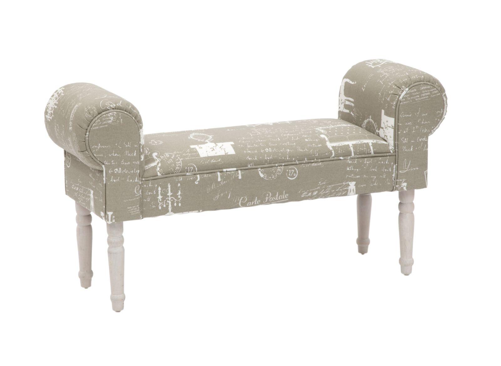 Banca tapitata cu stofa cu picioare din lemn Versailles l100xA30xH54 cm