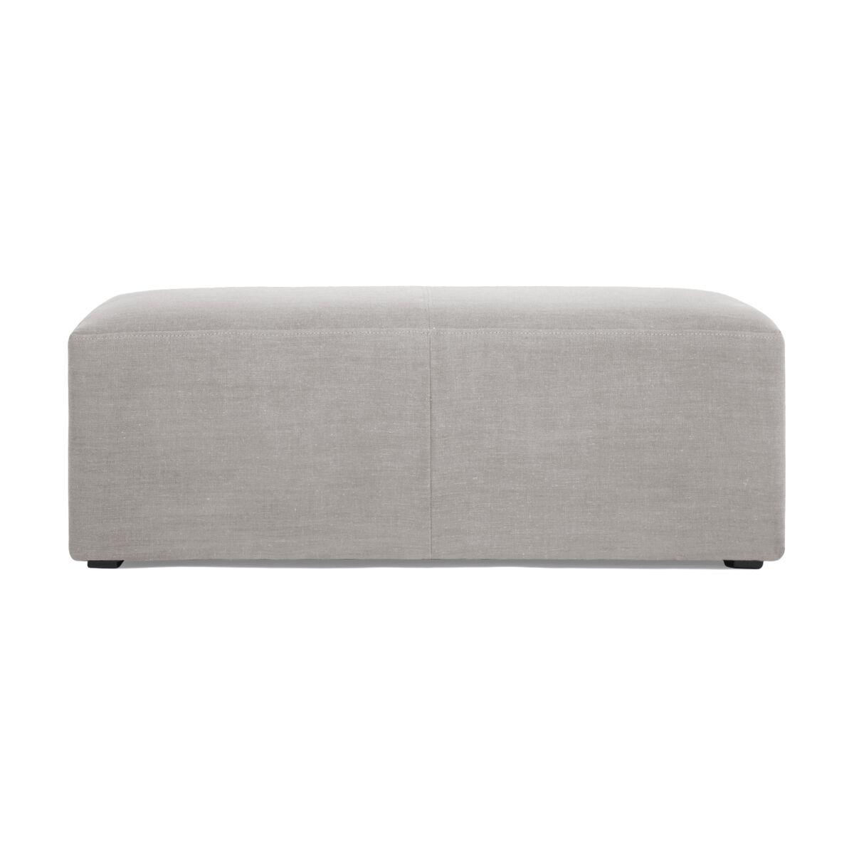 Banca tapitata cu stofa Grace Linen Light Grey l122xA66xH46 cm