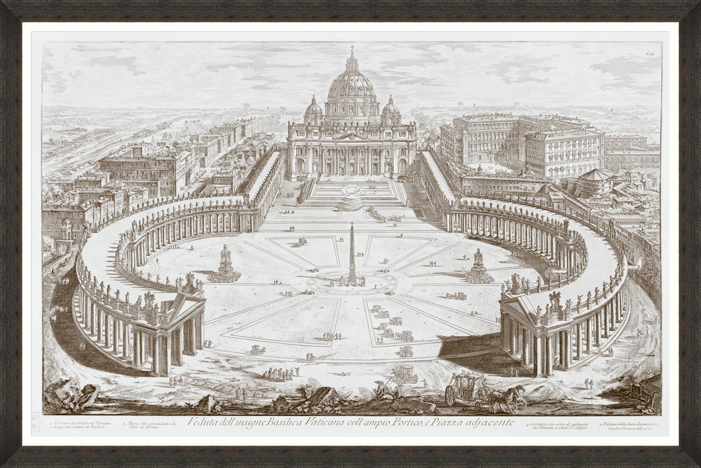Tablou Framed Art Basilica Vaticana imagine