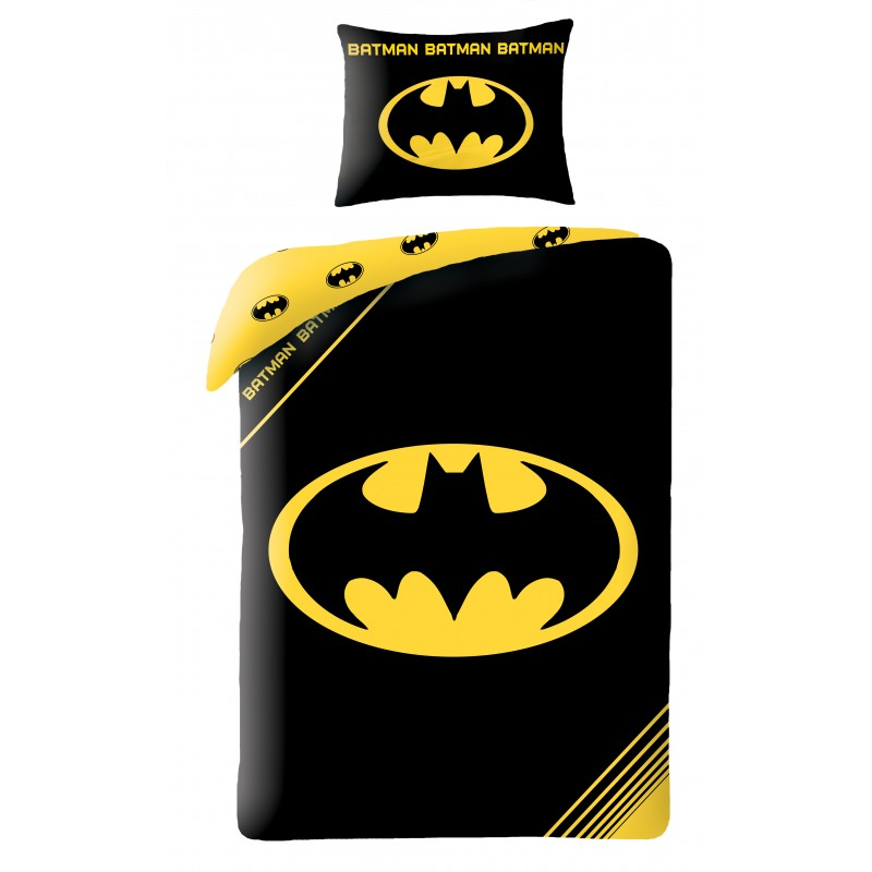 Lenjerie de pat copii Cotton Batman BM-4001BL