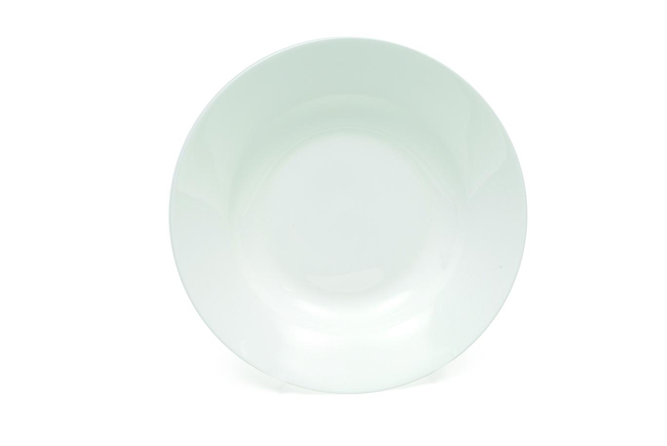 Set 12 Farfurii Cashmere Plate Alb, Portelan, l19 cm