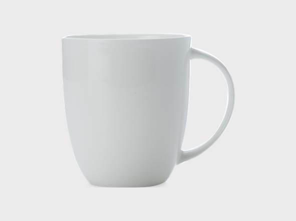 Set 6 Cani Cashmere Mug Alb, Portelan, 420 ml