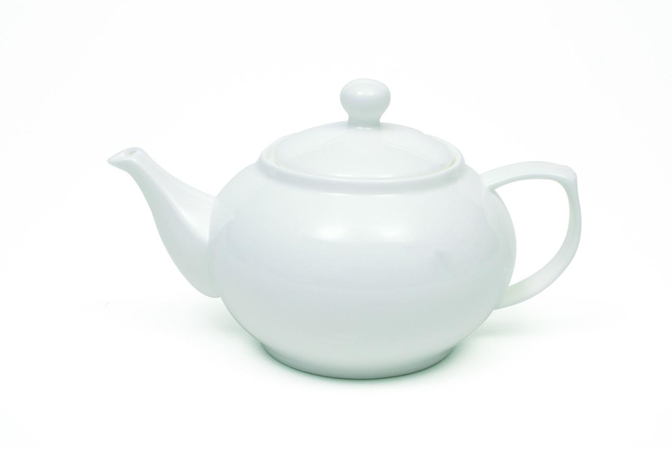Set 6 Ceainice Cashmere Teapot Alb, Portelan, 750 ml