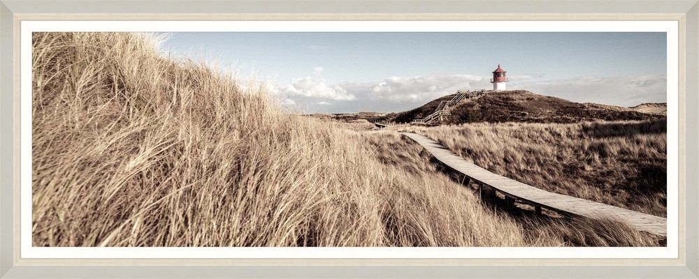Tablou Framed Art Beach Wooden Path imagine