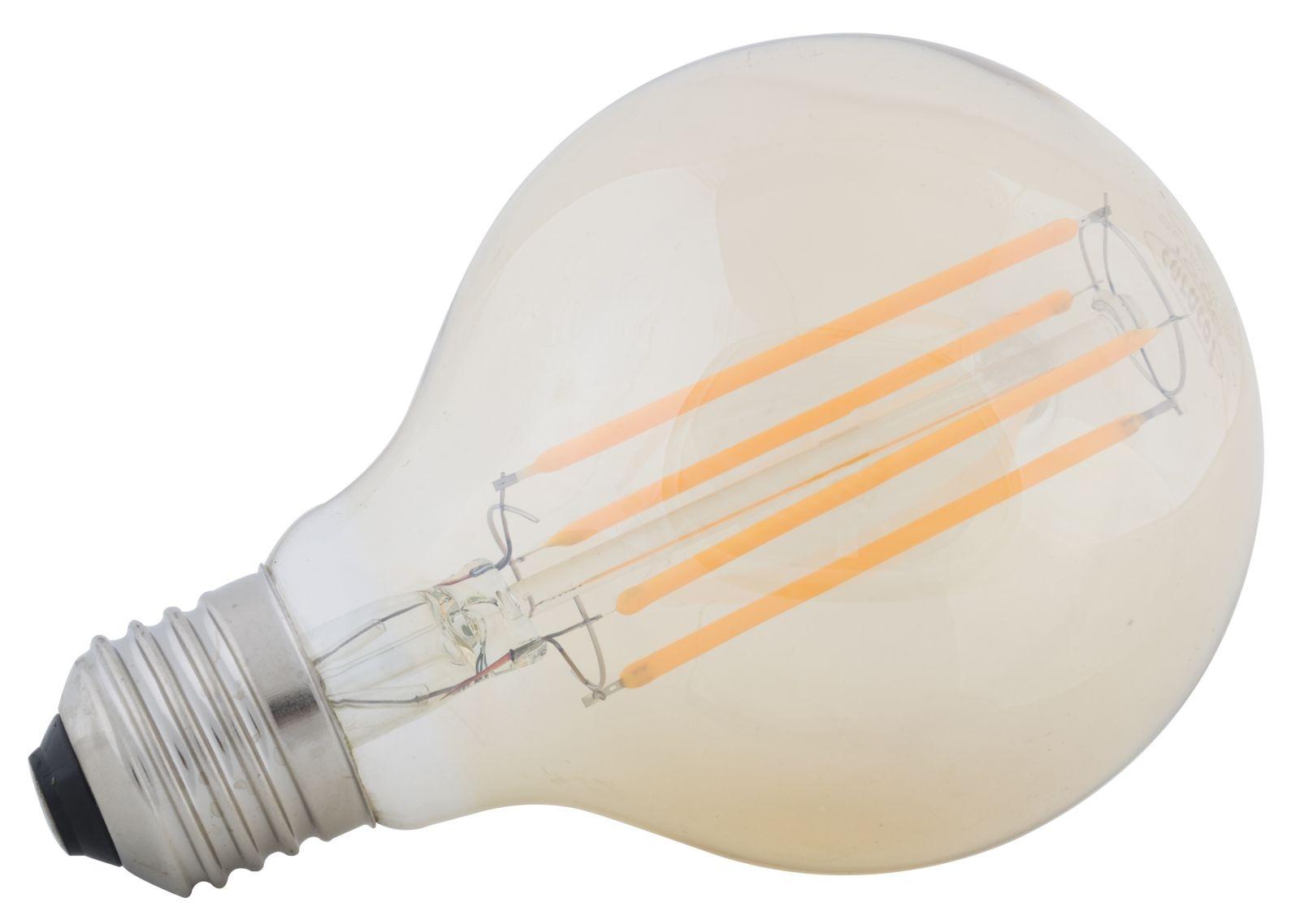 Bec LED Amber G80, 4W, Ø7,5xH11 cm imagine