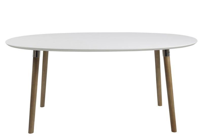 Masa din MDF si lemn Belina II White/Oak, L170xl100xh74 cm