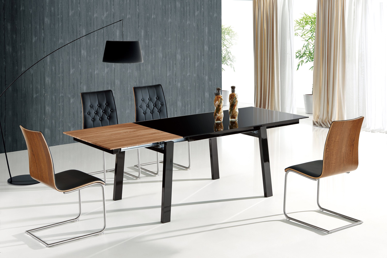 Set Masa din MDF si sticla Benedikt + 4 scaune K190