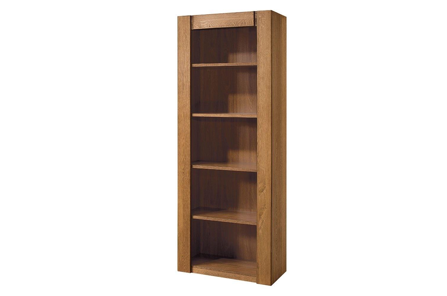 Biblioteca din furnir si pal Velvet 17 Stejar Rustic, l75xA42xH200 cm