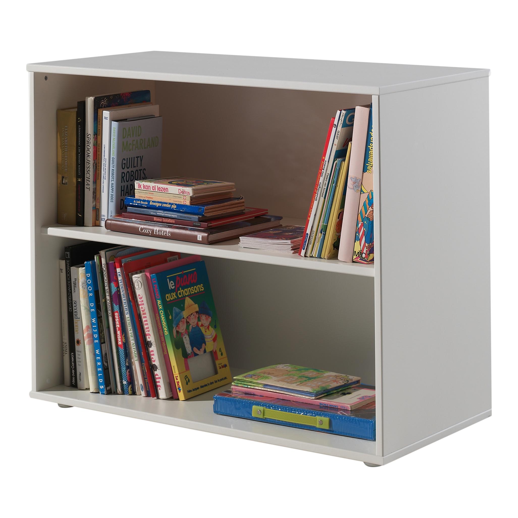Biblioteca din MDF pentru copii Pino Alb, l85,5xA43,3xH71,8 cm imagine