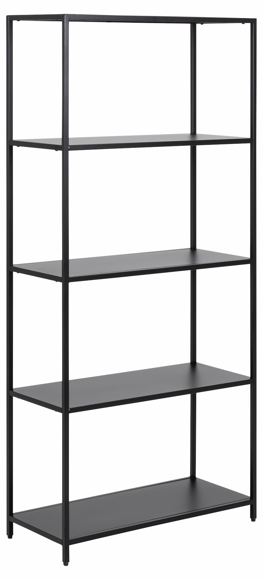 Biblioteca din metal Newcastle Medium Negru, l69,5xA30xH150 cm imagine