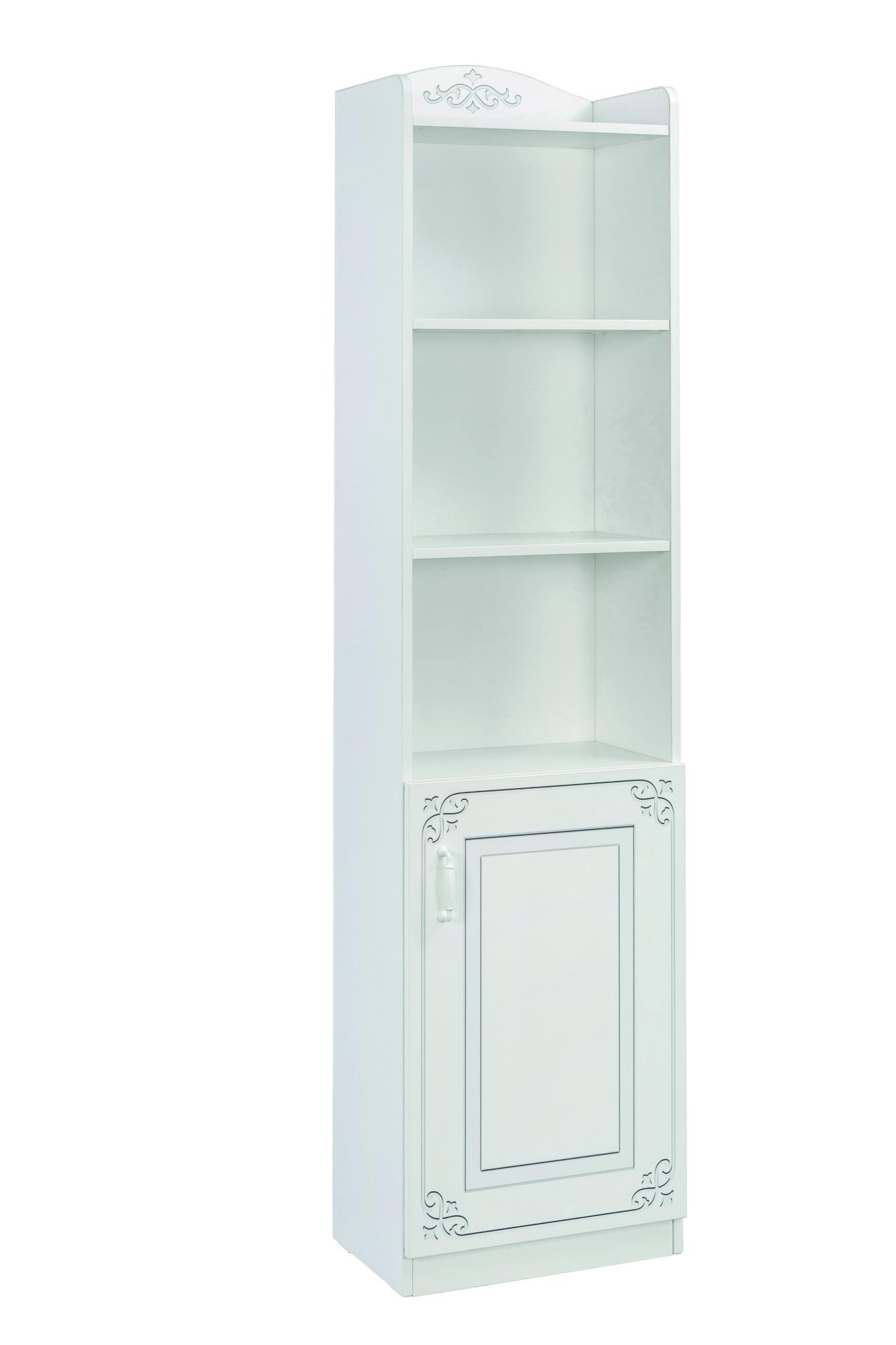Biblioteca din pal cu 1 usa, pentru tineret Selena White, l46xA34xH185 cm imagine