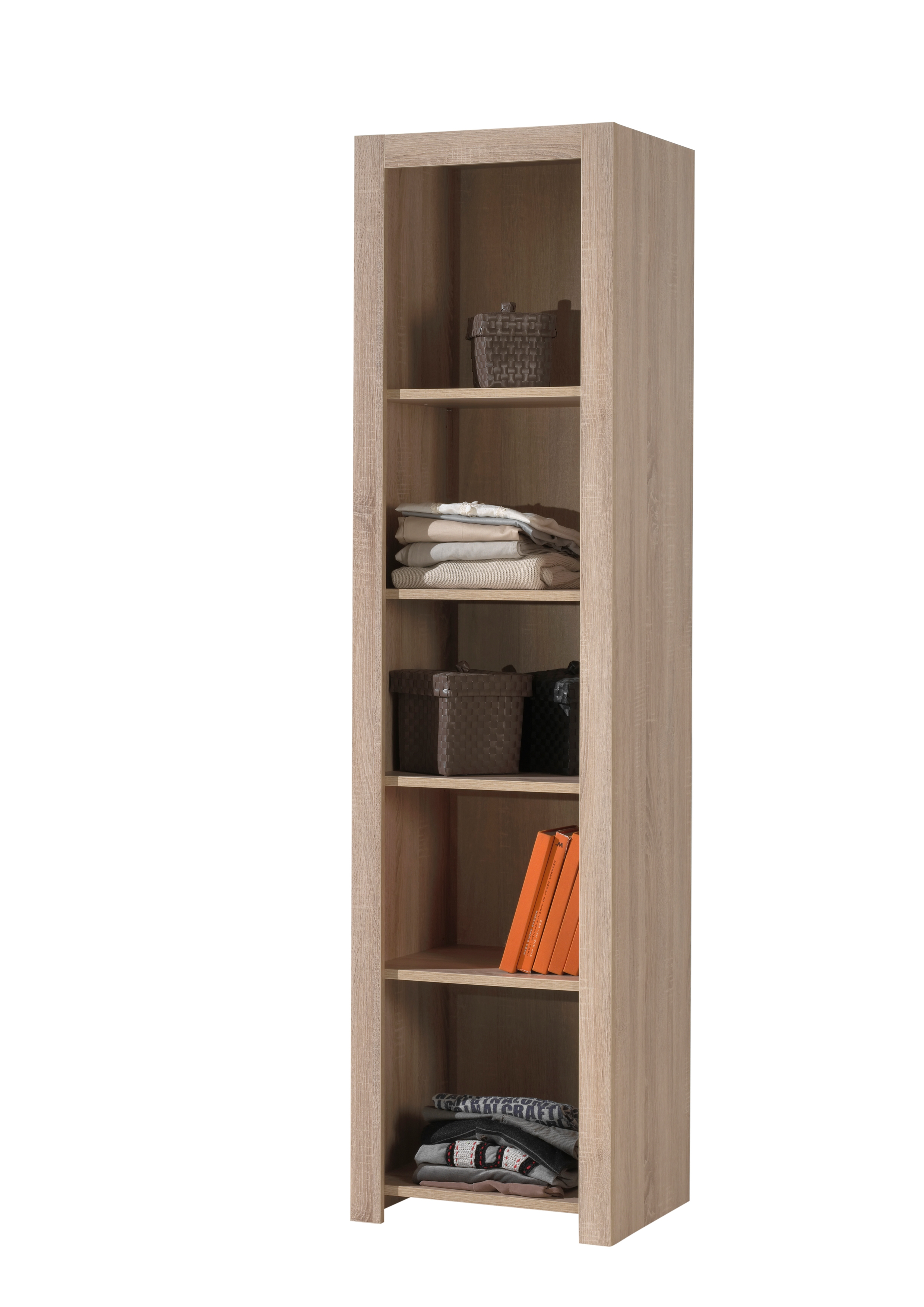 Biblioteca din pal pentru copii Aline Stejar deschis, l50,2xA45xH198,8 cm imagine