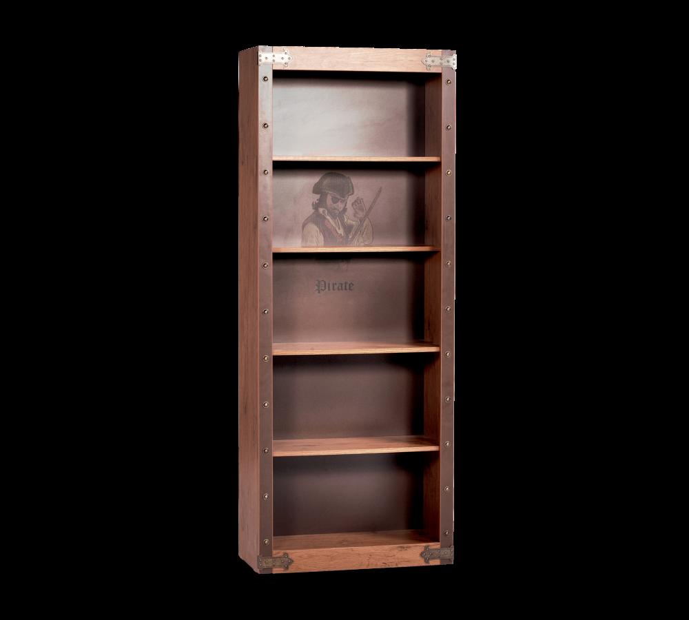 Biblioteca din pal pentru copii Pirate Brown l70xA33xH182 cm