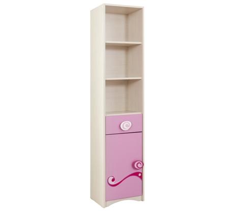 Biblioteca din pal, pentru copii Little Princess Pink / Nature, l38xA35xH173 cm