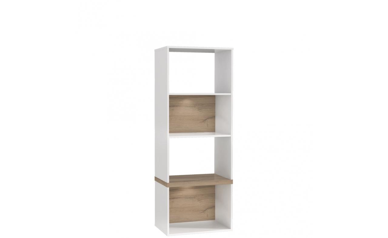 Biblioteca din MDF Small Blanka Oak / White, l60xA40xH165 cm imagine