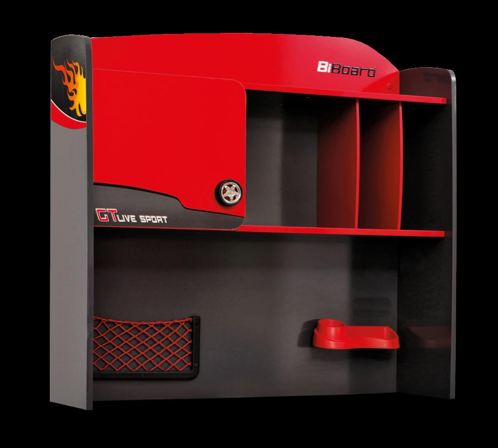 Biblioteca Suspendata din pal pentru copii Champion Racer Red / Grey l102xA31xH98 cm