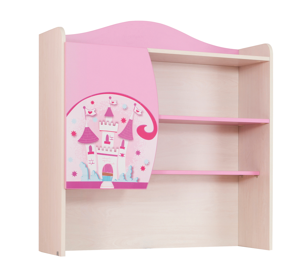 Biblioteca Suspendata din pal, pentru copii Little Princess Pink / Nature, l89xA29xH93 cm imagine