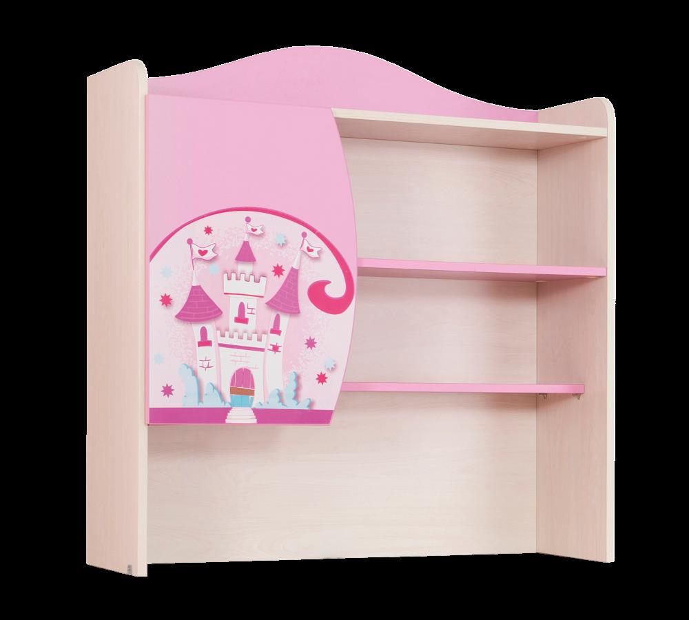 Biblioteca Suspendata din pal, pentru copii Little Princess Pink / Nature, l89xA29xH93 cm