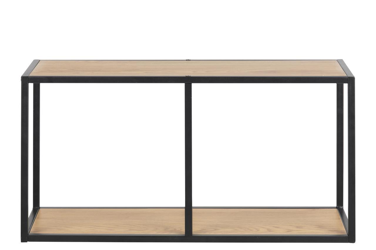 Biblioteca suspendata din pal si metal Seaford Stejar / Negru, l72,5xA24xH37 cm imagine