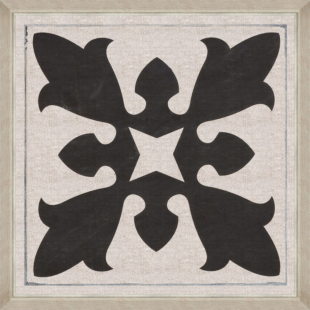 Tablou Framed Art Black Tile II