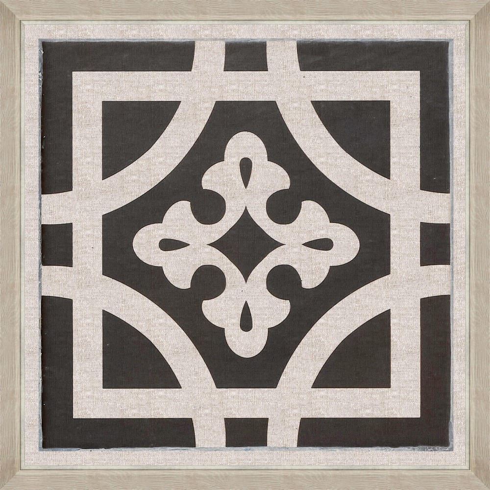 Tablou Framed Art Black Tile III