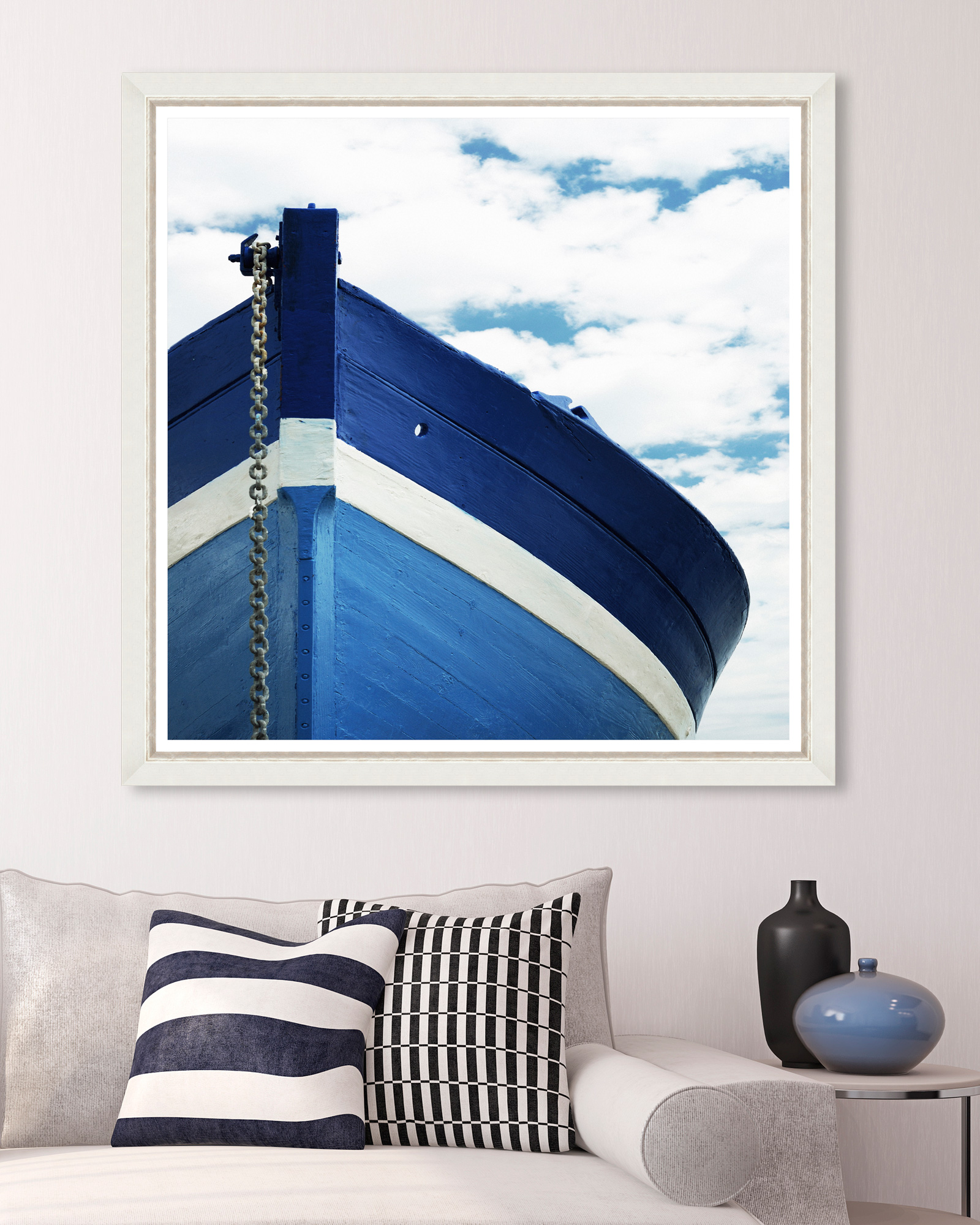 Tablou Framed Art Blue Boat
