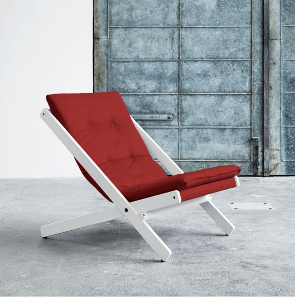 Fotoliu Relaxare Boogie White Passion Red
