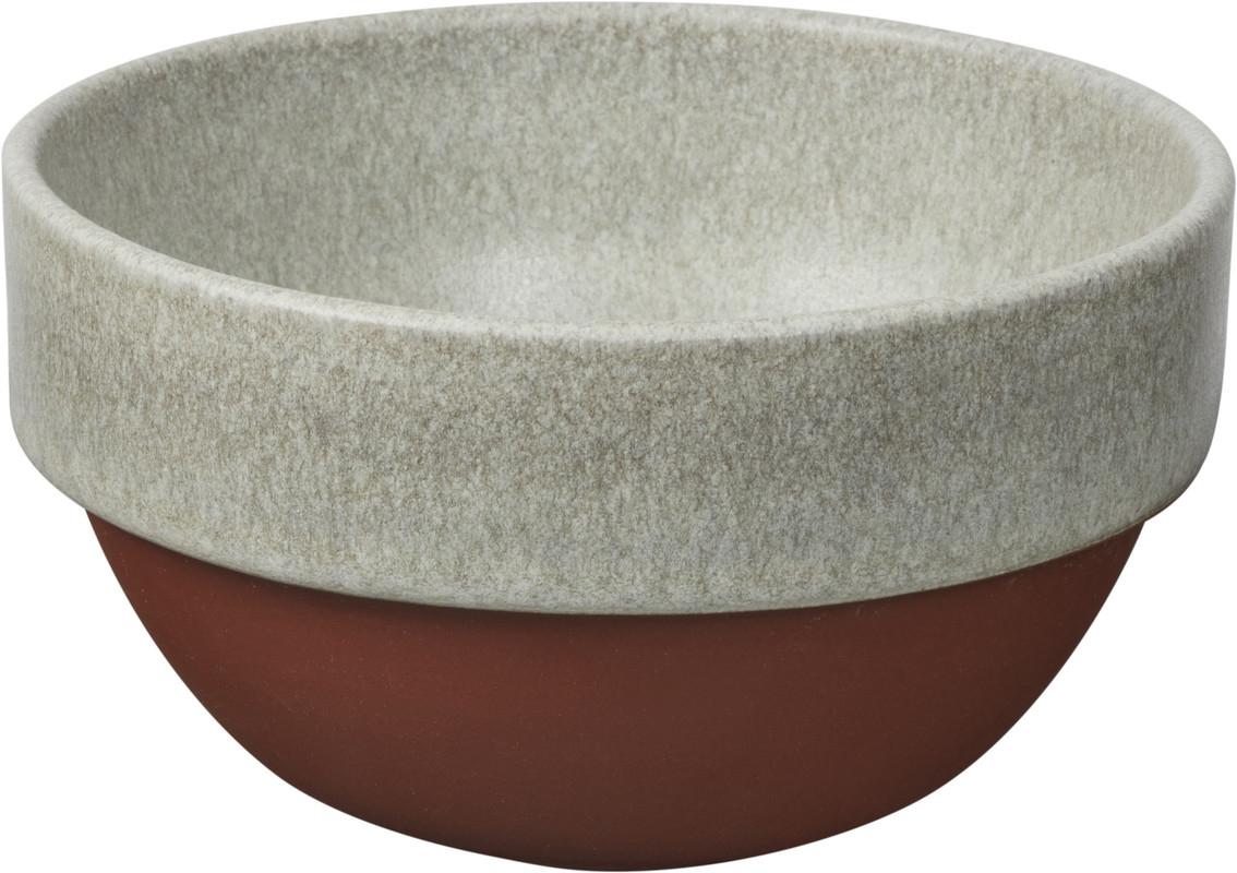 Bol ceramic Latte Ø 11 cm si lingura de lemn 15 cm, Jamie Oliver imagine