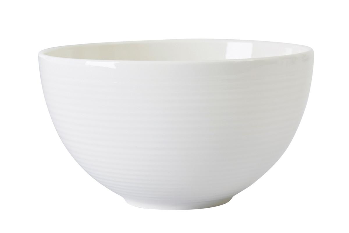 Bol cereale, Ridges Cream, Ø 15 cm, Jamie Oliver imagine